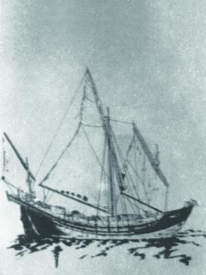 Thuyền buồm - phương tiện ra đảo của Đội Hoàng Sa vào thế kỷ XVII-XVIII.