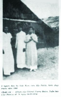 Những người phụ nữ Việt Nam sinh sống trên đảo Hoàng Sa (1940).